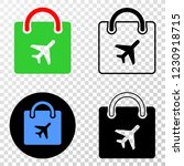 airport shopping bag eps vector ... | Shutterstock .eps vector #1230918715