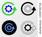 gear rotation eps vector... | Shutterstock .eps vector #1230918718