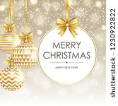 merry christmas and happy new... | Shutterstock .eps vector #1230922822