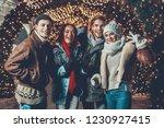 portrait of glad men and...   Shutterstock . vector #1230927415