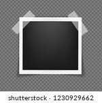 square realistic frame template ... | Shutterstock .eps vector #1230929662