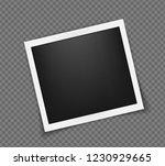 square realistic polaroid frame ...   Shutterstock .eps vector #1230929665