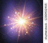 glow light effect. vector...   Shutterstock .eps vector #1230932905