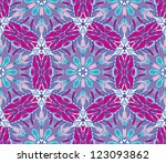 vector seamless colorful floral ... | Shutterstock .eps vector #123093862