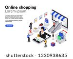 flat isometric vector design.... | Shutterstock .eps vector #1230938635