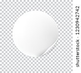 realistic  white round sticker... | Shutterstock .eps vector #1230942742