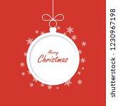 christmas greeting card. xmas... | Shutterstock . vector #1230967198