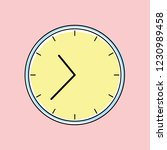 sweet pastel colored clock... | Shutterstock .eps vector #1230989458