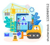 website development process ... | Shutterstock .eps vector #1230989512