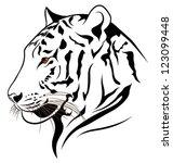 vector tiger | Shutterstock .eps vector #123099448