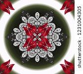 template colored mandala circle ... | Shutterstock . vector #1231004305