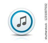 musical notation button... | Shutterstock .eps vector #1231007032