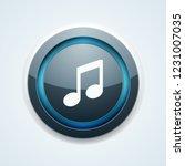 musical notation button... | Shutterstock .eps vector #1231007035