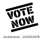 vote now stamp on white... | Shutterstock .eps vector #1231012078