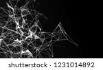 abstract polygonal space... | Shutterstock . vector #1231014892