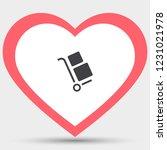 handcart vector icon   Shutterstock .eps vector #1231021978