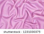 pink woolen crumpled wrinkled... | Shutterstock . vector #1231030375