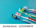 toothbrushes in the form on a...   Shutterstock . vector #1231048645