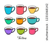 set of different cute colorful... | Shutterstock .eps vector #1231068142