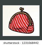 doodle wallet or pouch vector | Shutterstock .eps vector #1231068442