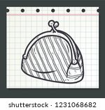 doodle pouch or wallet | Shutterstock .eps vector #1231068682