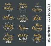 merry christmas calligraphic... | Shutterstock .eps vector #1231072375