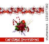 vector christmas border | Shutterstock .eps vector #1231077382