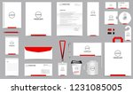 corporate identity set.... | Shutterstock .eps vector #1231085005