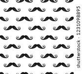 seamless mustache barber... | Shutterstock . vector #1231098895