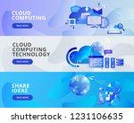 web banner illustration of... | Shutterstock .eps vector #1231106635