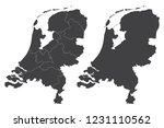 map   netherlands couple set  ... | Shutterstock .eps vector #1231110562
