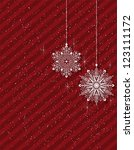 christmas background with... | Shutterstock .eps vector #123111172