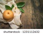 snow pear or korean snow pear... | Shutterstock . vector #1231112632