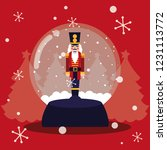 nutcracker soldier in crystal... | Shutterstock .eps vector #1231113772