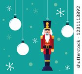 nutcracker soldier toy with... | Shutterstock .eps vector #1231113892