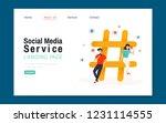 social media service landing... | Shutterstock .eps vector #1231114555