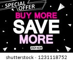 buy more save more  sale poster ... | Shutterstock .eps vector #1231118752