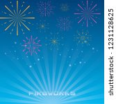 fireworks celebration scene... | Shutterstock .eps vector #1231128625