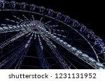 blue neon lightened ferris... | Shutterstock . vector #1231131952