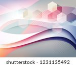 abstract geometric background | Shutterstock .eps vector #1231135492