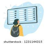 vector cartoon illustration of... | Shutterstock .eps vector #1231144315