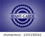 avant garde jean or denim...   Shutterstock .eps vector #1231158262