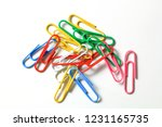 Group Of Colorful Paperclips ...