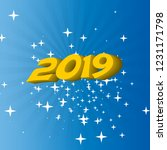 festive background 2019... | Shutterstock .eps vector #1231171798