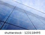 blue modern facade of office... | Shutterstock . vector #123118495