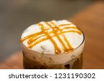 ice caramel macchiato in the... | Shutterstock . vector #1231190302