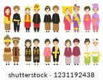 indonesian couples wearing... | Shutterstock .eps vector #1231192438