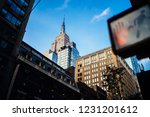urban setting with tall... | Shutterstock . vector #1231201612