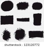 various platter splotch vector... | Shutterstock .eps vector #123120772