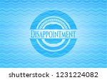 disappointment light blue water ... | Shutterstock .eps vector #1231224082